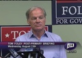 Click to Launch Republican Candidate for Governor Tom Foley Briefing with State Sen. John McKinney the Morning after the August 12th GOP Primary